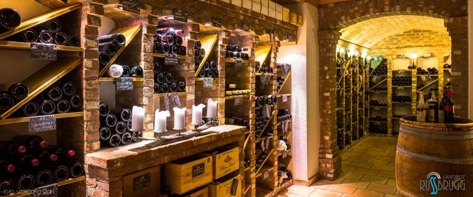 Weinkeller selber ausbauen  Restaurant Rüssbrugg - Fleischlos Spezial :.